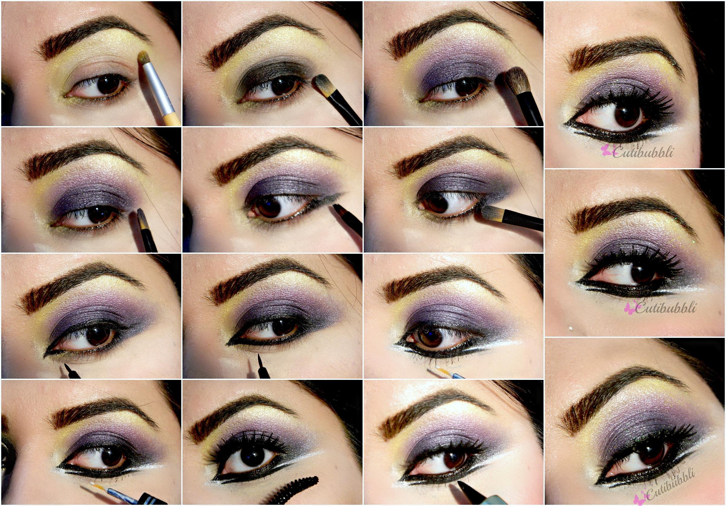Праздничный макияж глаз пошаговое фото